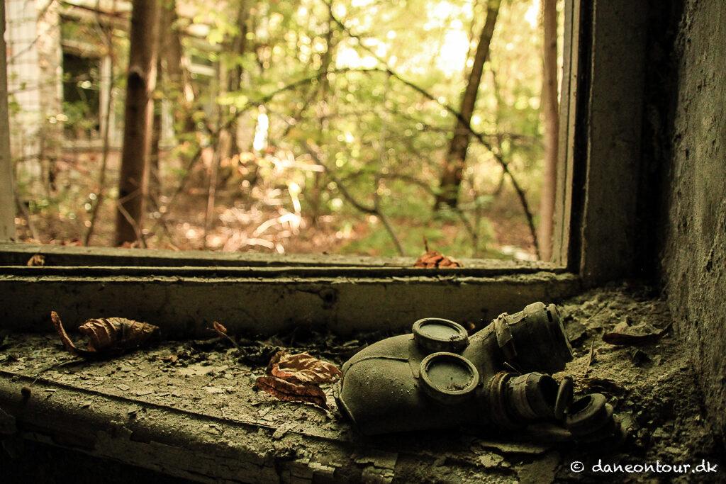 Gasmask in Pripyat
